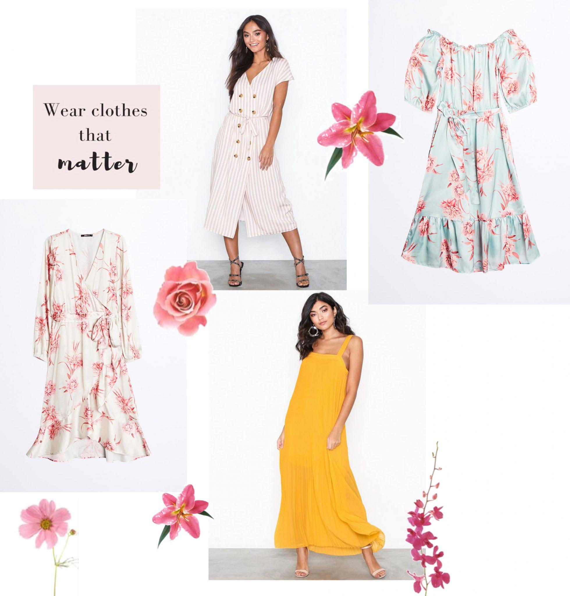 76e3dea83e9a ... det inte bli uppklätt och damigt, kör på en enkel klänning och matcha  med sneakers om du trivs bäst i det. Att göra på blommor, volanger och  klackar är ...