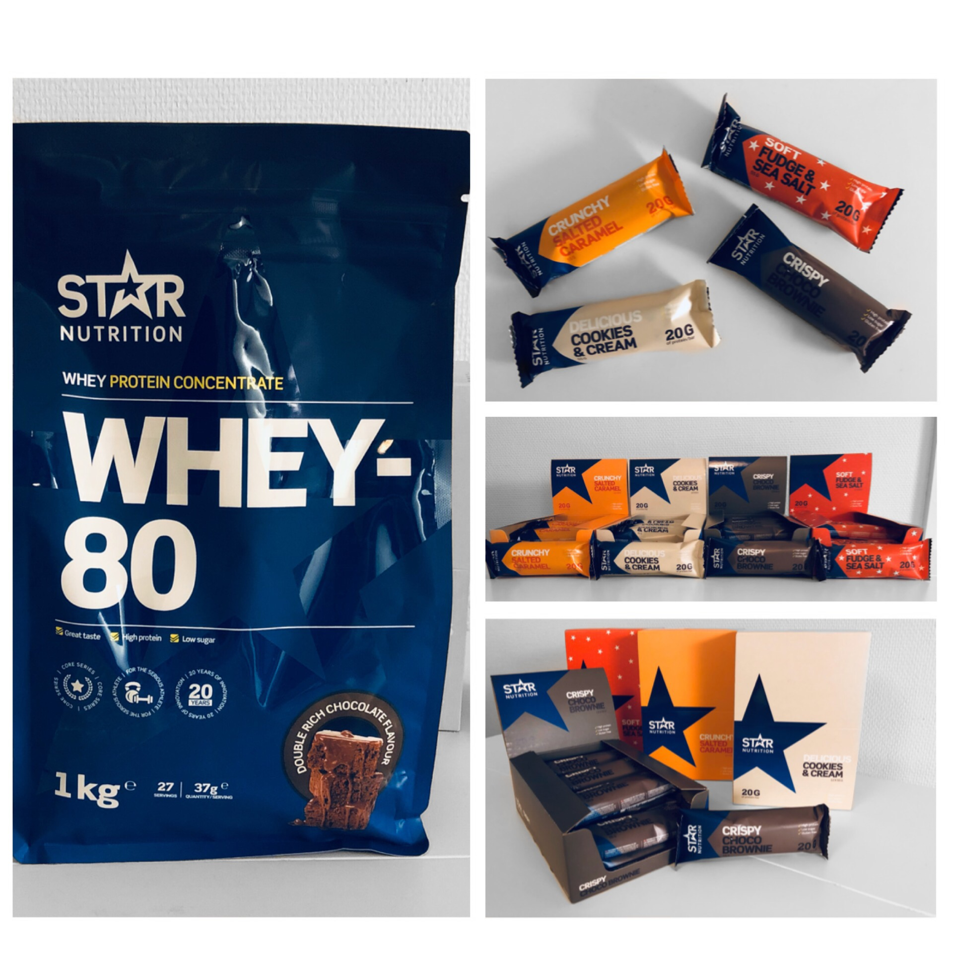 Whey-80 & protein bars